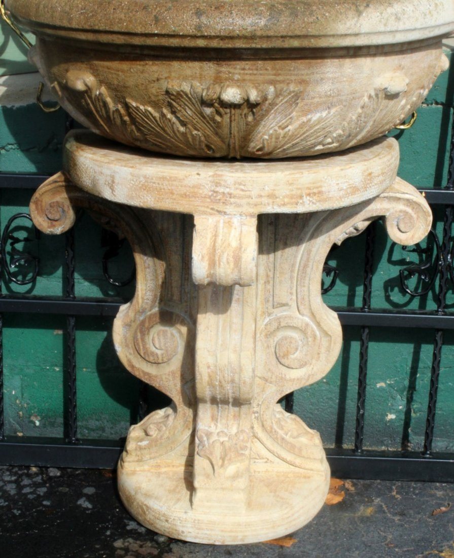 Cast stone wall fountain - 4