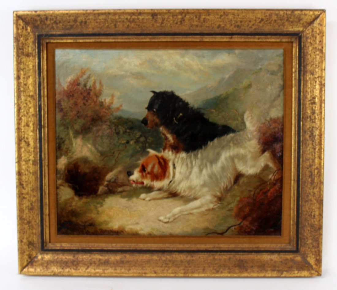 English George Armfield oil on canvas depicting dogs - 2