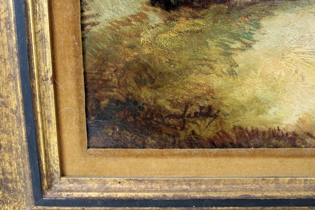 English George Armfield oil on canvas depicting dogs - 3