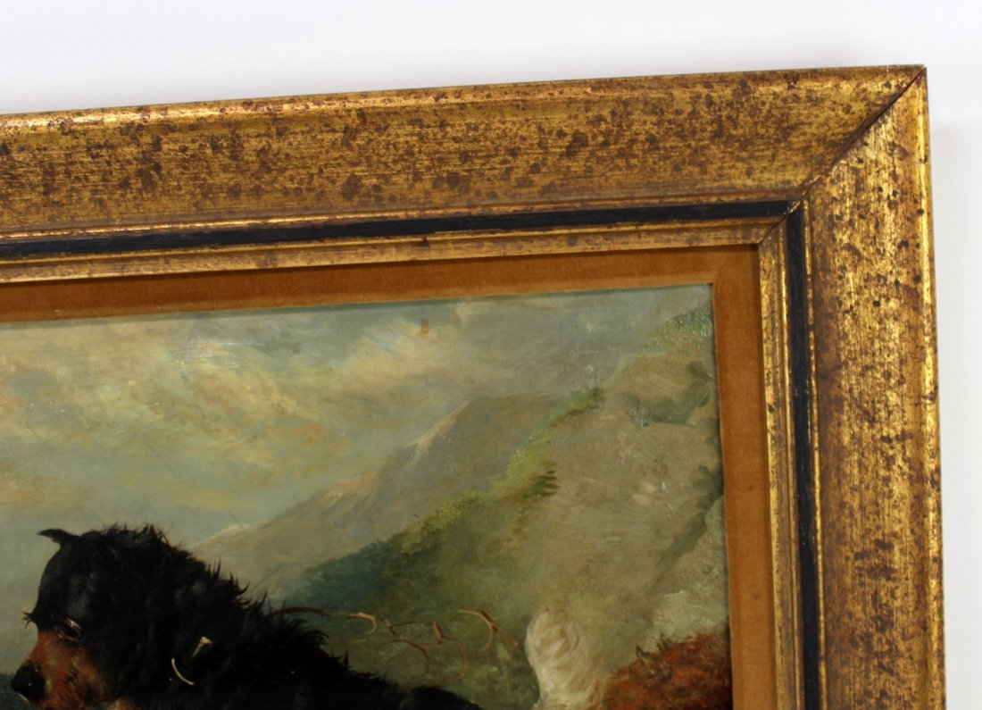 English George Armfield oil on canvas depicting dogs - 5