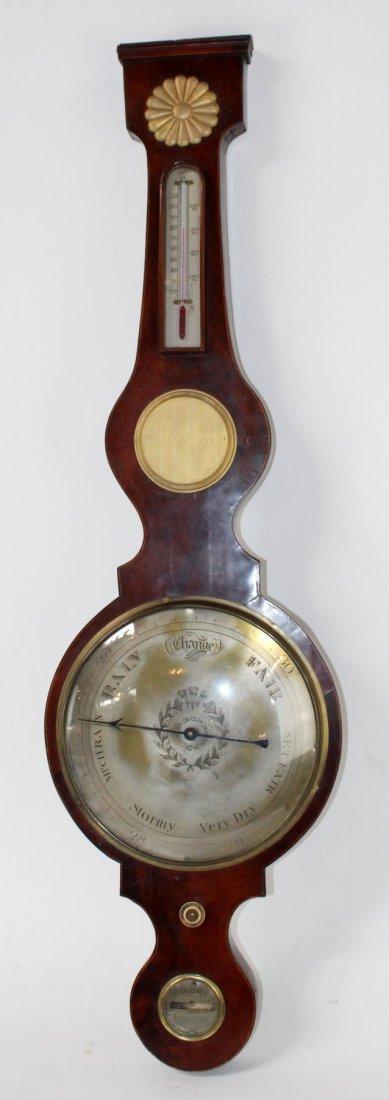 Mallet Harwich banjo style mahogany barometer