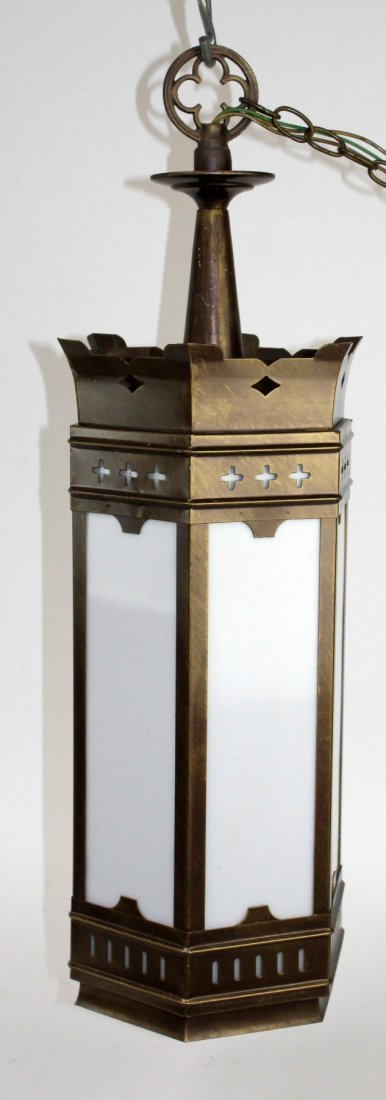 Gothic Revival brass theatre light