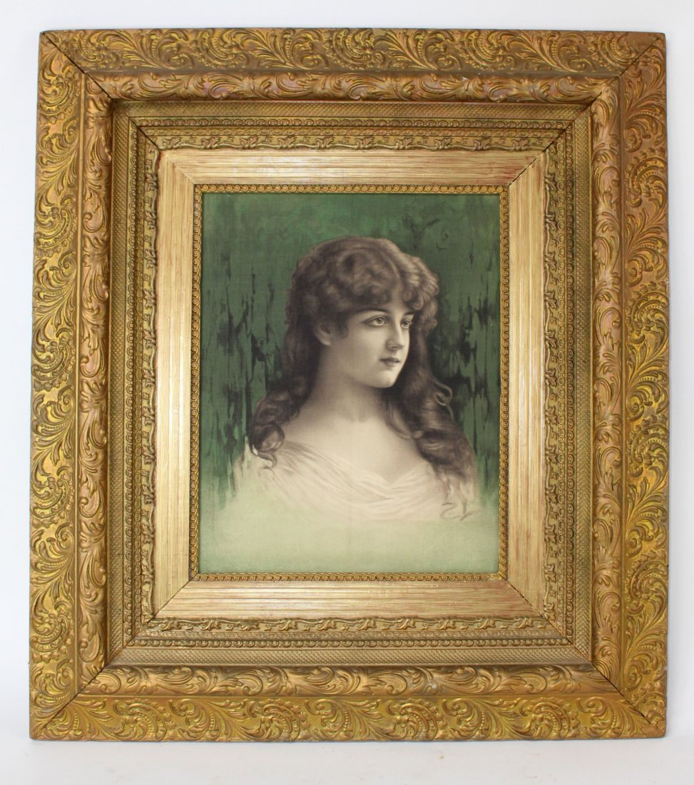 Oil on canvas in 19th century gilt frame