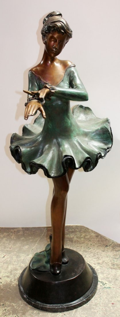 Bronze ballerina sculpture