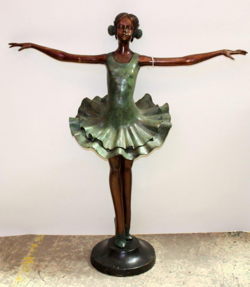 Bronze ballerina sculpture
