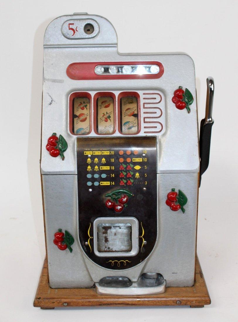 Antique Mills 5 cent Black cherry slot machine