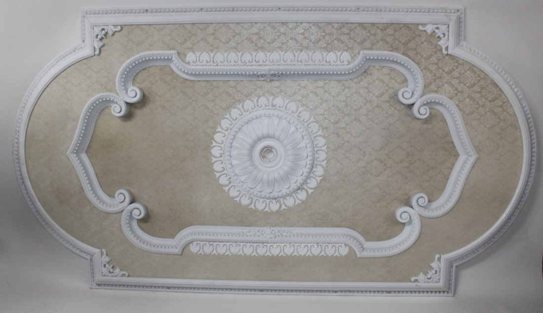 Large scale rectangular ceiling medallion
