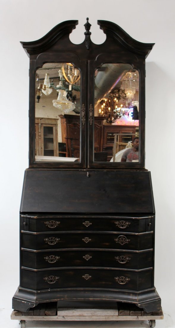 Painted Bureau bookcase with secretary