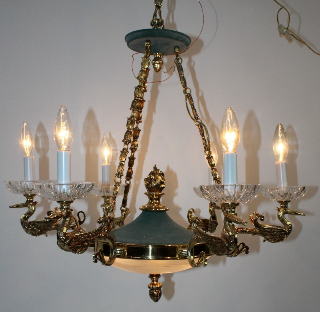 Empire style 6 arm chandelier - 3