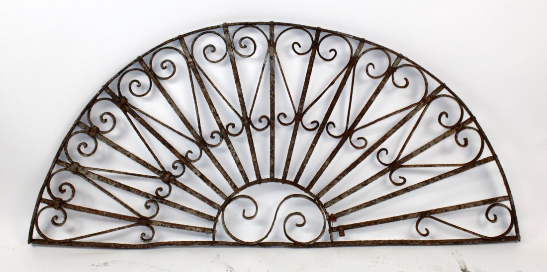 Forged iron demi lune panel