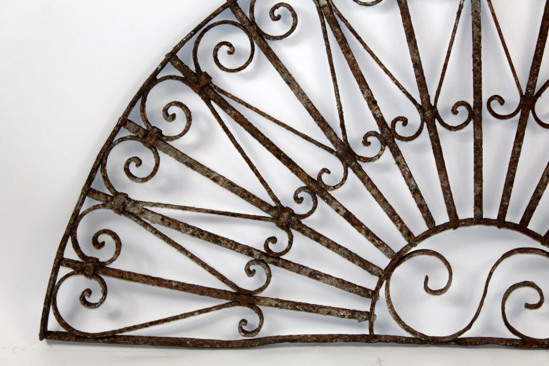 Forged iron demi lune panel - 3