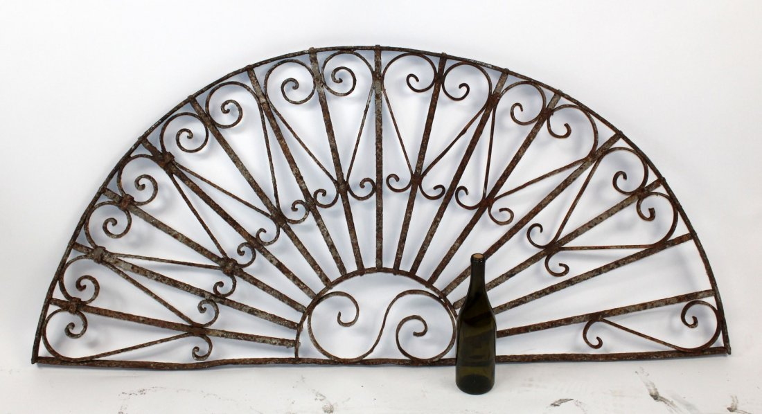 Forged iron demi lune panel - 4
