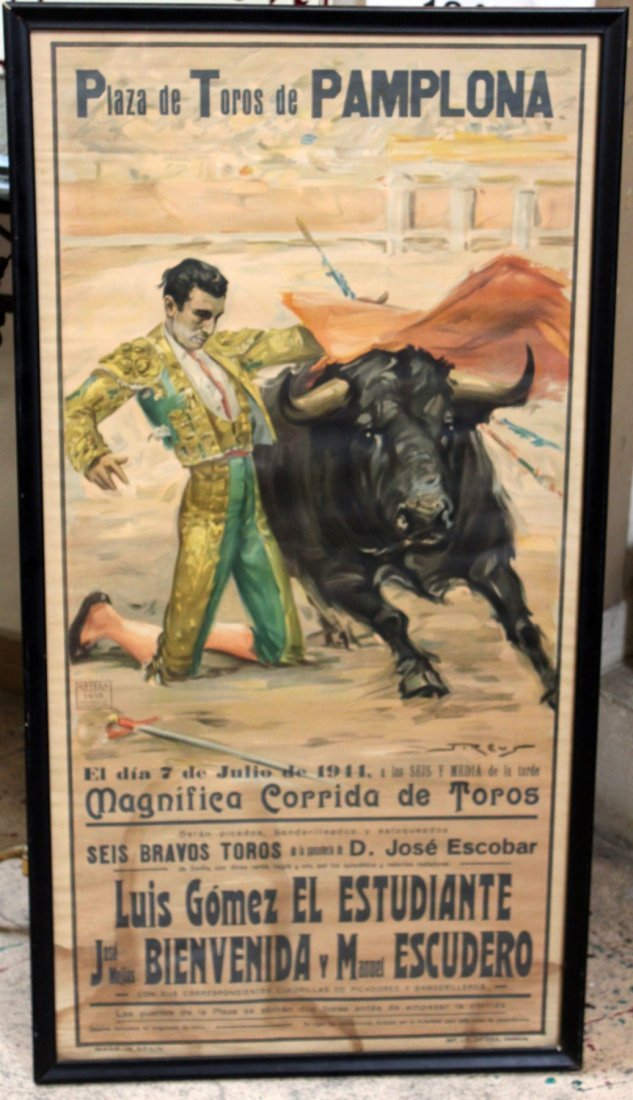 Vintage Spanish bull fighting poster
