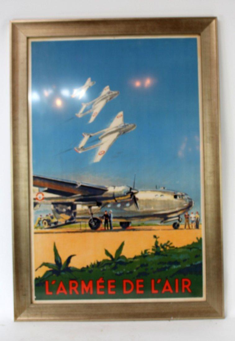 "Vintage French ""L'Armee de L'Air"" poster"