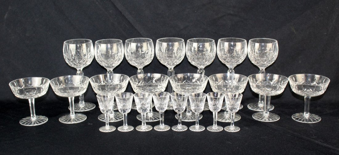 Collection of 24 pieces of Waterford crystal Lismore