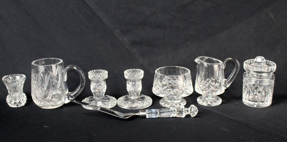 Collection of Waterford crystal decoratives