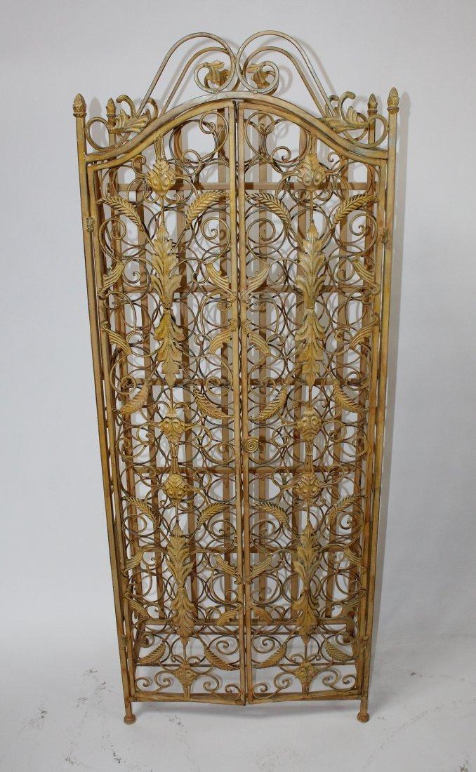 Wrought iron 2 door wine rack