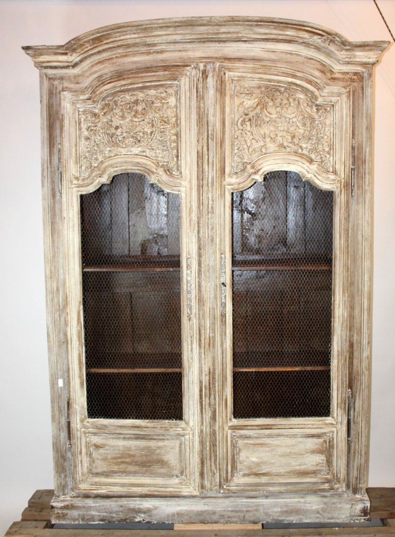 French provincial painted armoire