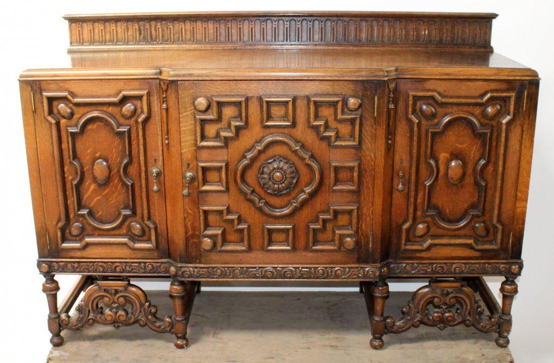 Oak Jacobean style sideboard