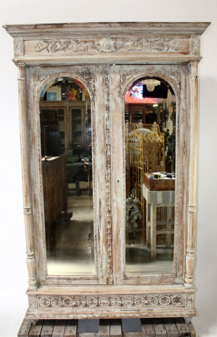 French Louis XIII painted bookcase
