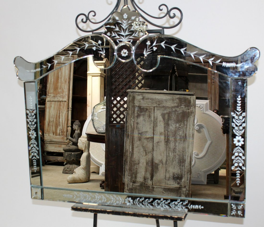 Shaped Venetian style mirror
