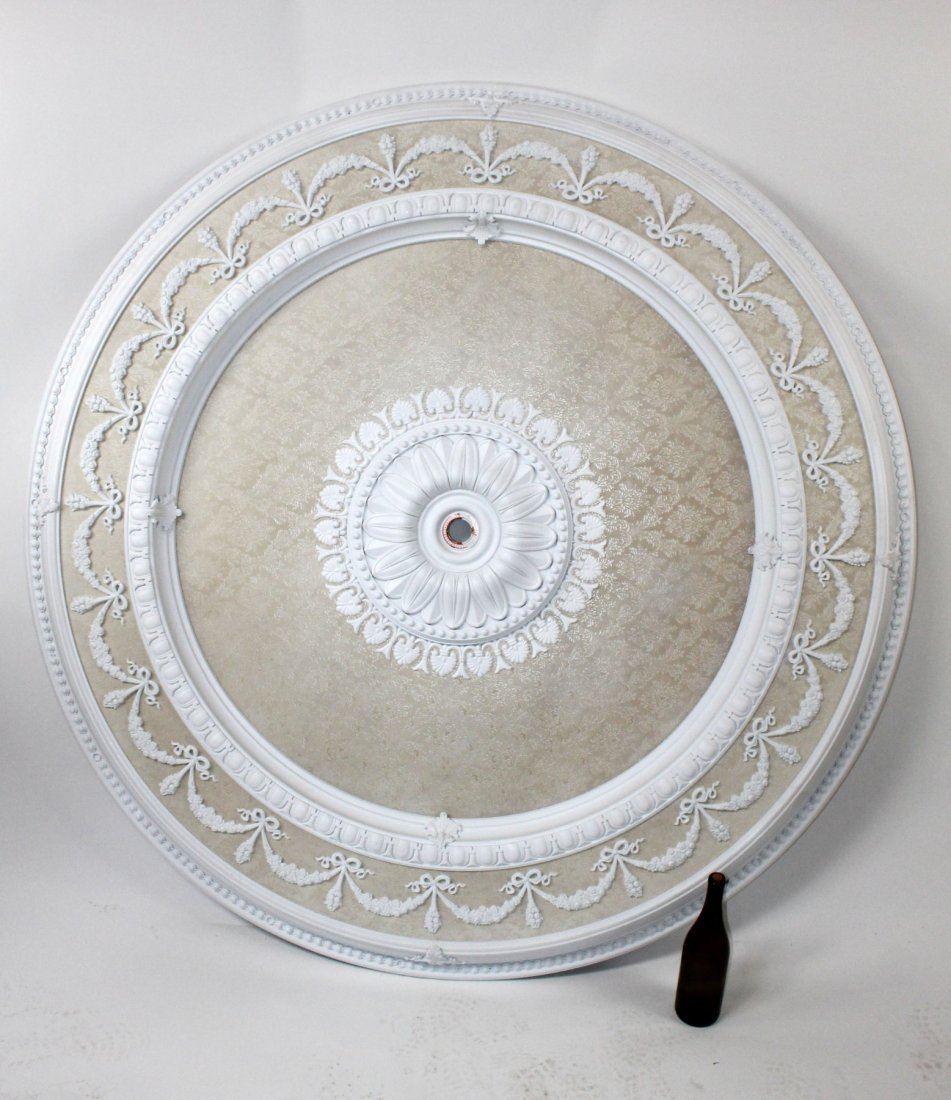 Large decorative round ceiling medallion
