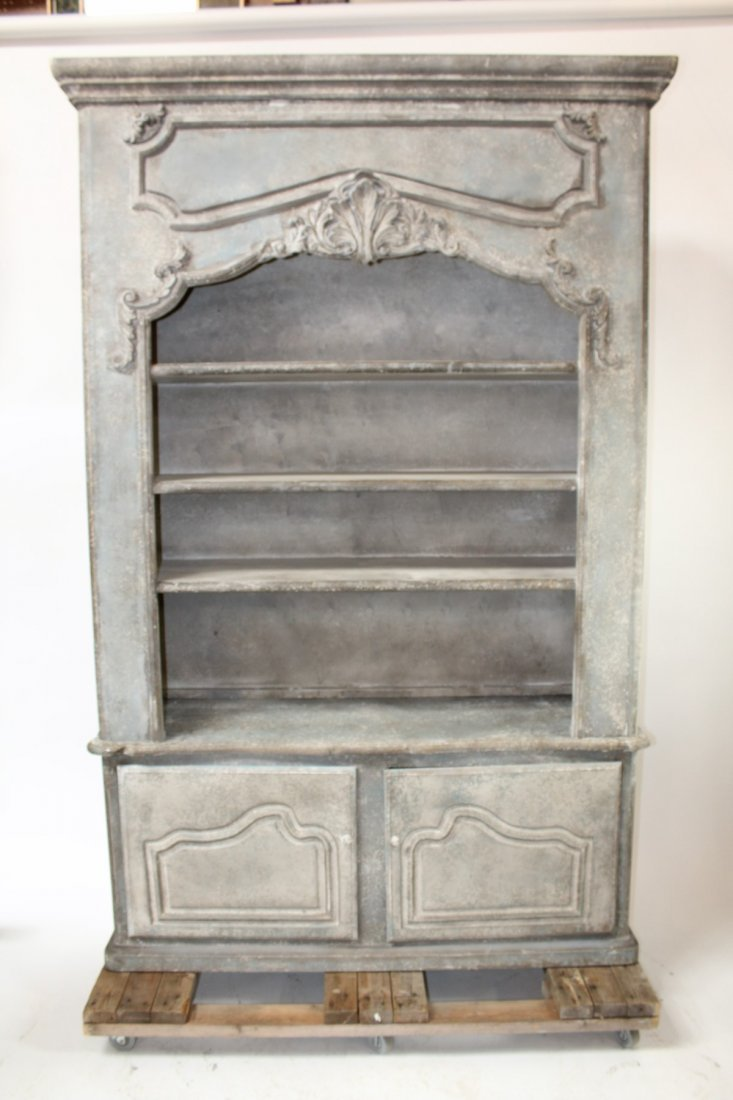 Provincial style painted open bookcase