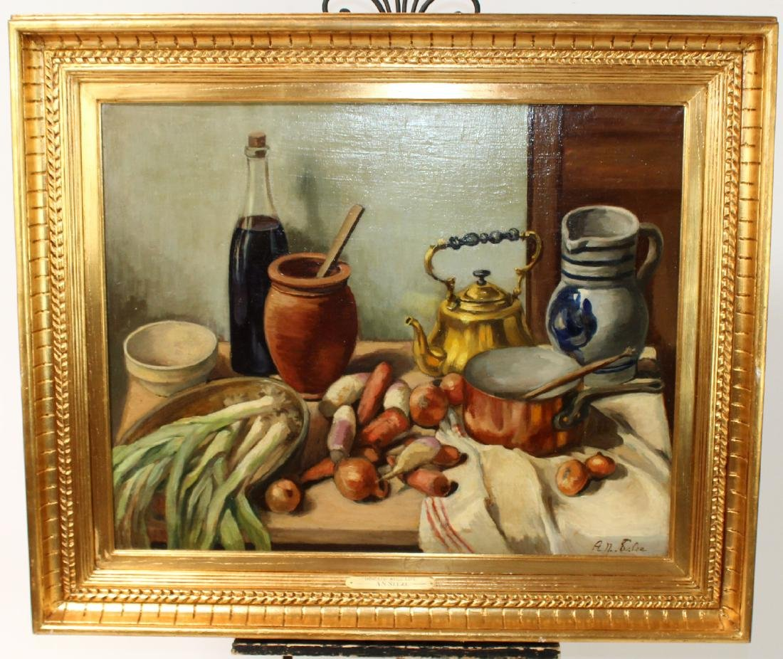 Selzie Oil on canvas still life