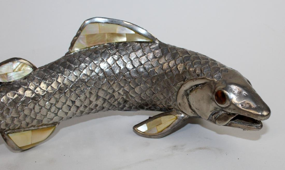 Pair of Maitland Smith pewter fish - 4