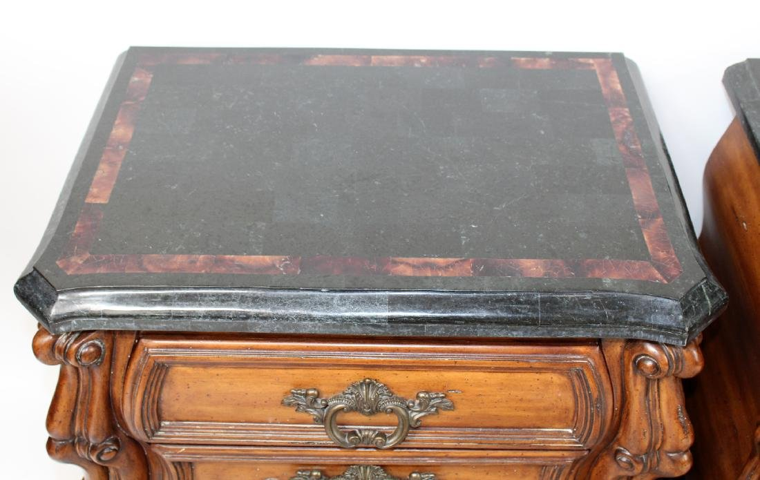 Pair of mahogany bombe chests or nightstands - 5