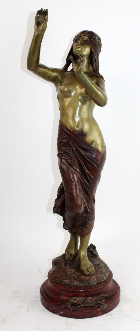 """Bronze sculpture """"Muse de Bois"""" after Edouard Drouot"""