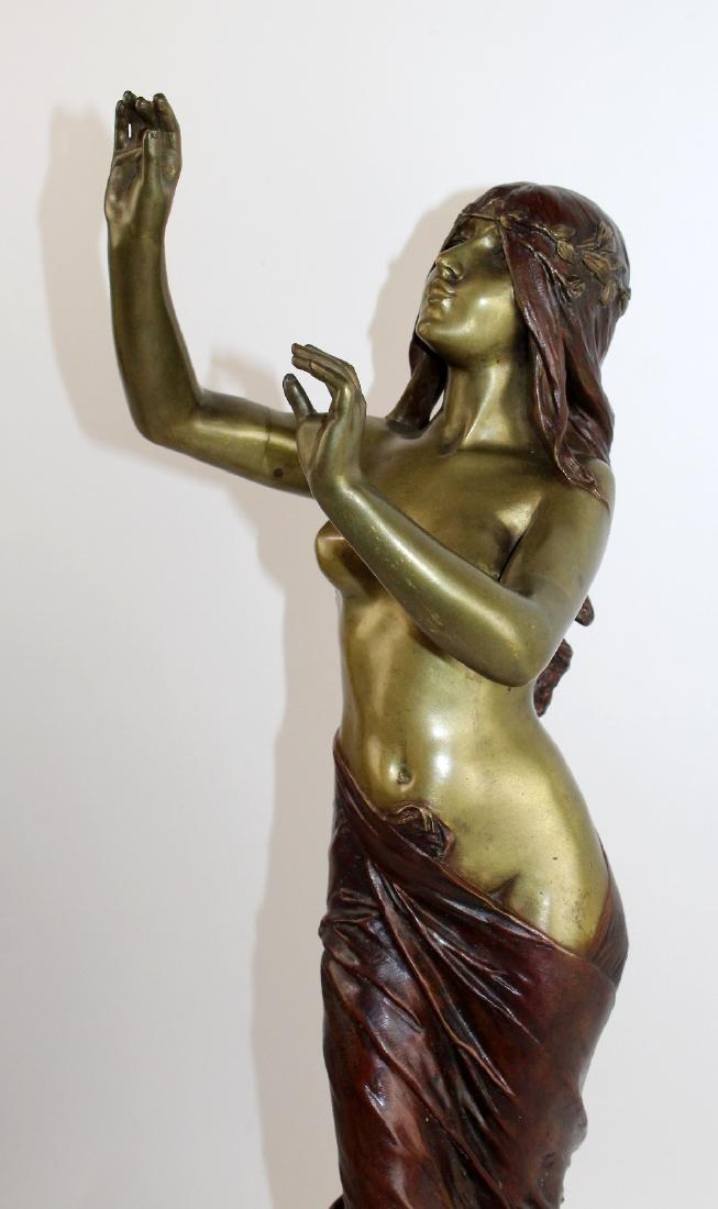 """Bronze sculpture """"Muse de Bois"""" after Edouard Drouot - 3"""
