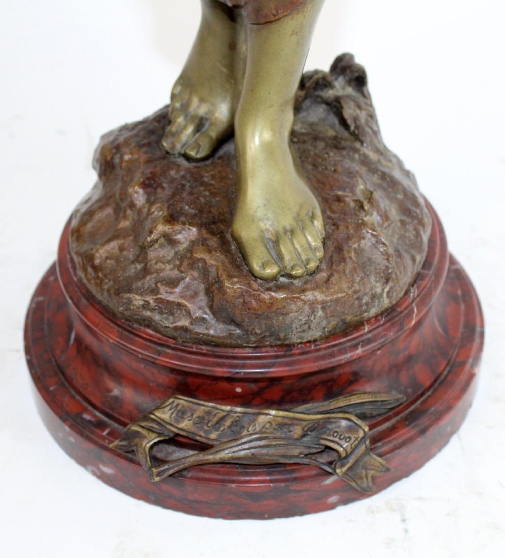 """Bronze sculpture """"Muse de Bois"""" after Edouard Drouot - 4"""