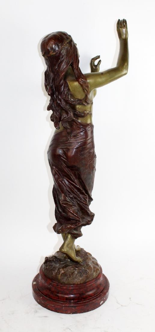 """Bronze sculpture """"Muse de Bois"""" after Edouard Drouot - 5"""