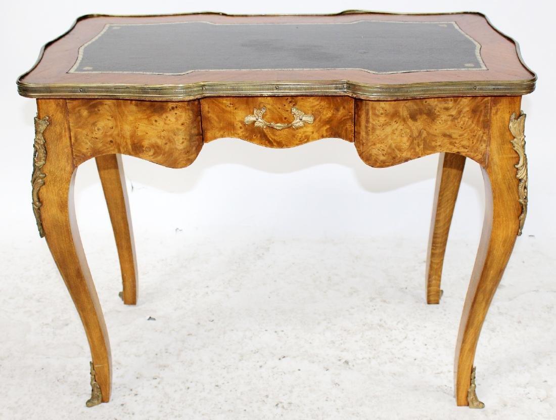 Louis XV style bureauplat side table