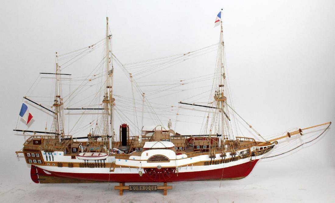 Ship model of French 3 masted frigate L'Orenoque