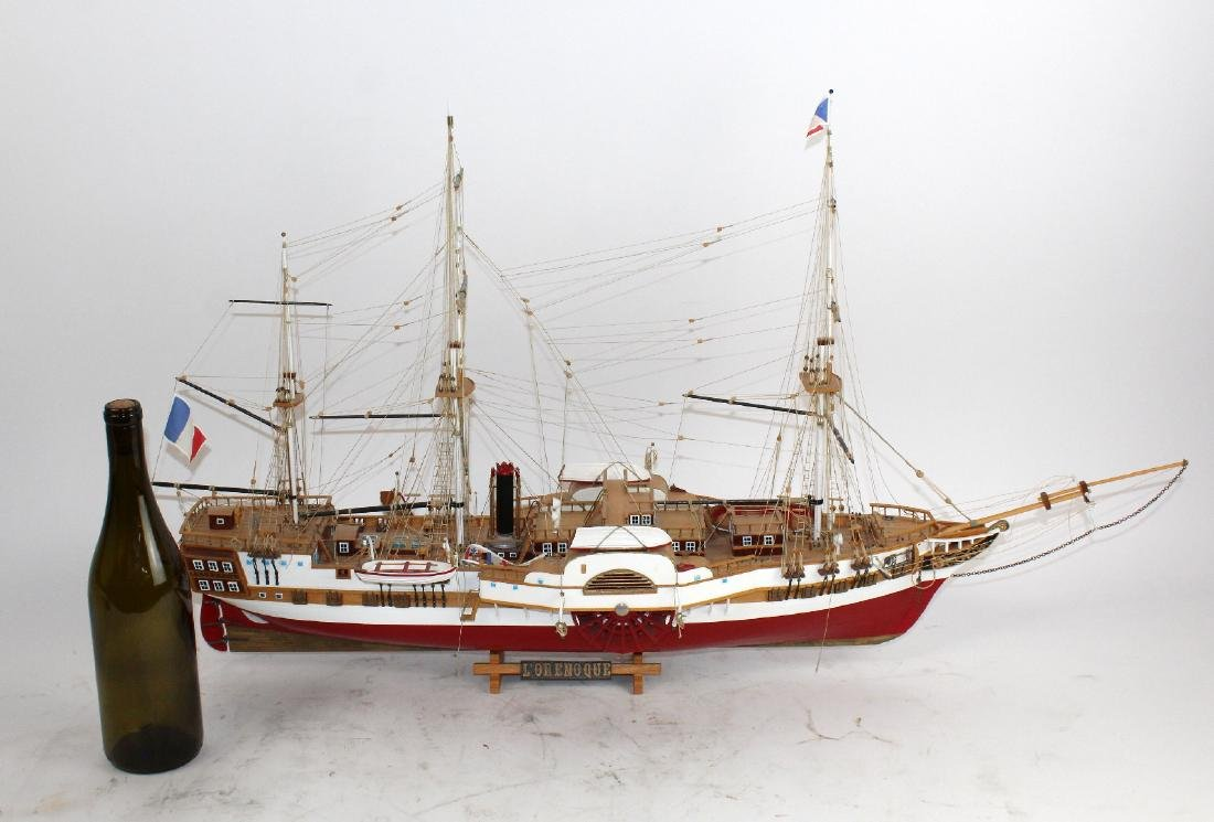Ship model of French 3 masted frigate L'Orenoque - 2