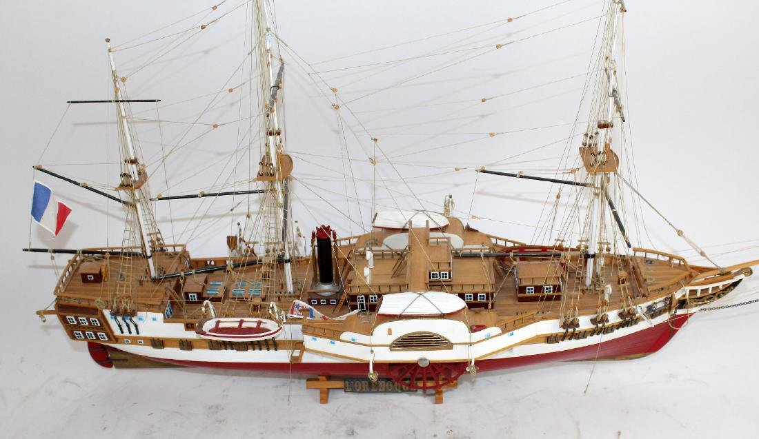 Ship model of French 3 masted frigate L'Orenoque - 3