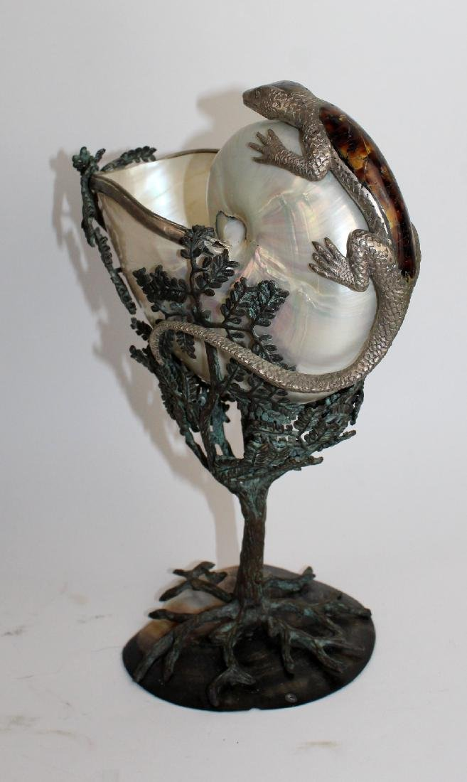 Maitland Smith nautilus shell centerpiece - 3