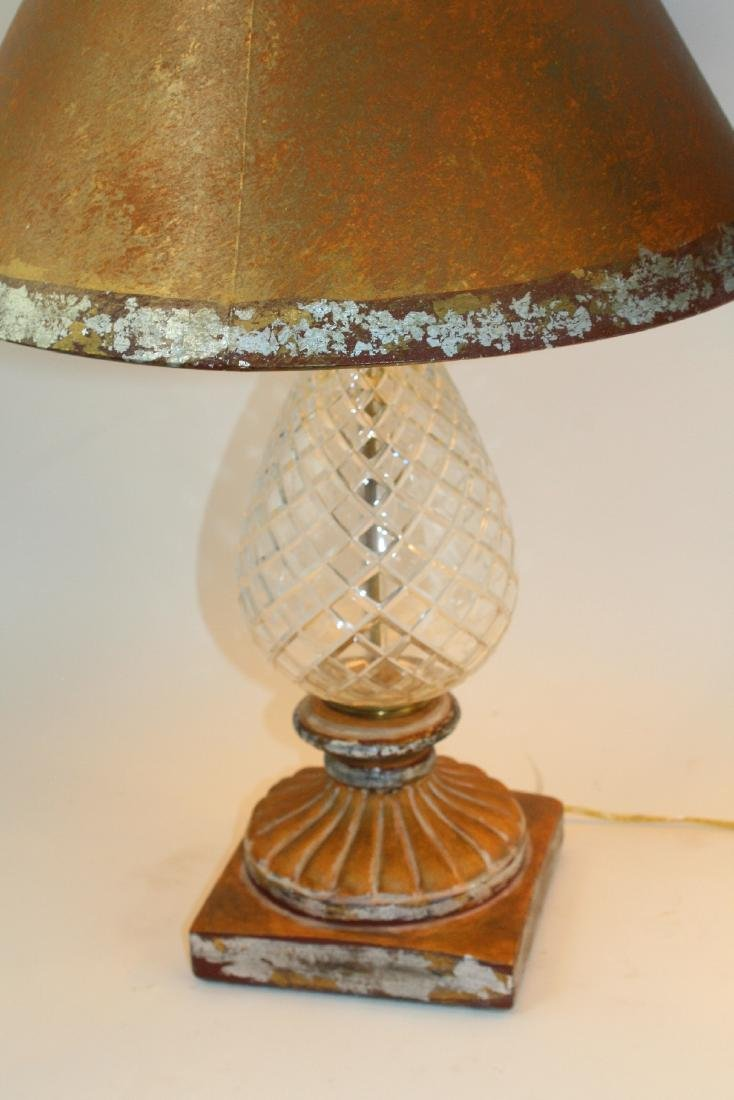 Pair of cut crystal pineapple form table lamps - 3