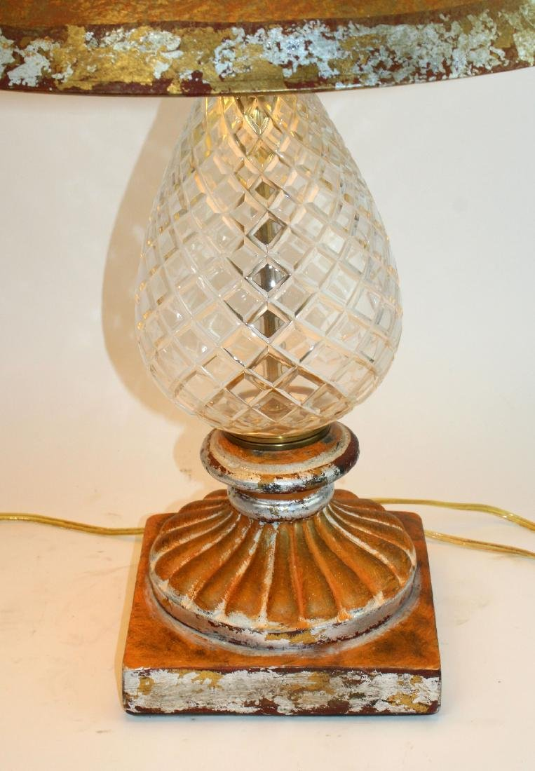 Pair of cut crystal pineapple form table lamps - 4