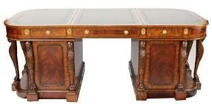 Maitland Smith mahogany partners desk