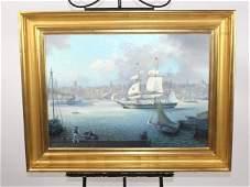 Len Pearce oil on canvas sailing ship