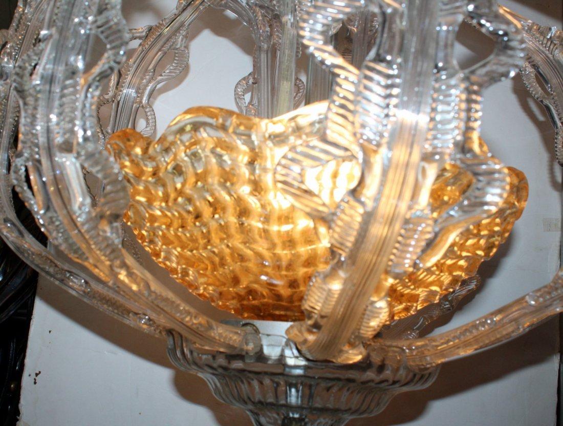 Italian Murano glass chandelier - 3