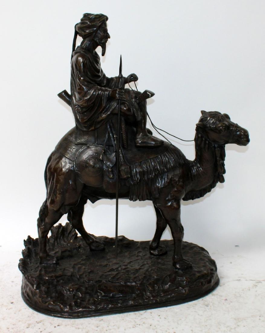 After Leonard bronze sculpture of a mounted camel