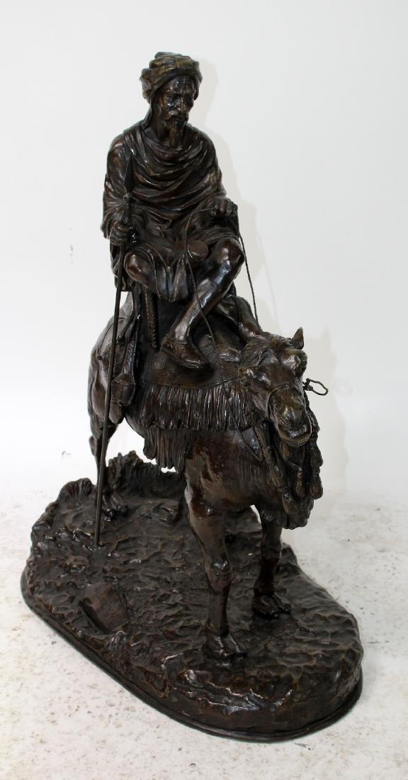 After Leonard bronze sculpture of a mounted camel - 2