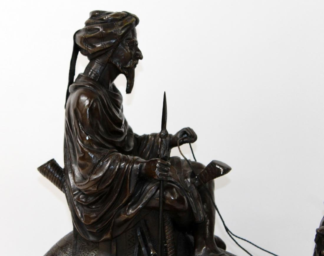 After Leonard bronze sculpture of a mounted camel - 3