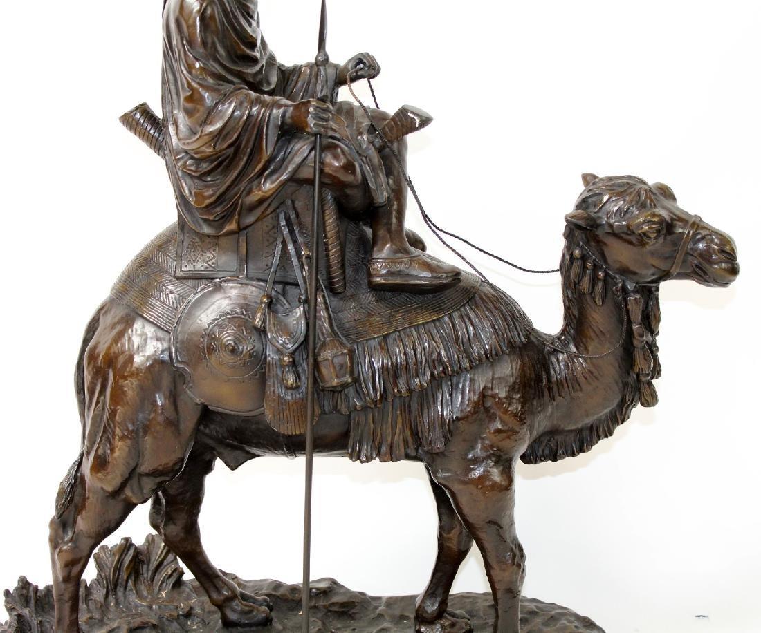 After Leonard bronze sculpture of a mounted camel - 4