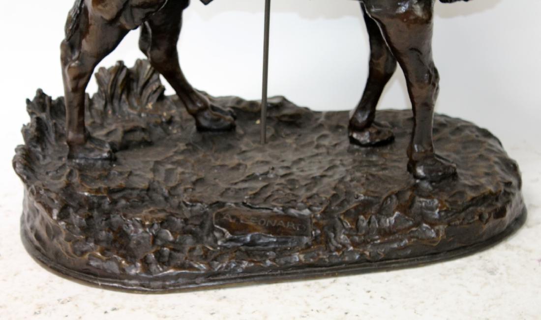 After Leonard bronze sculpture of a mounted camel - 5