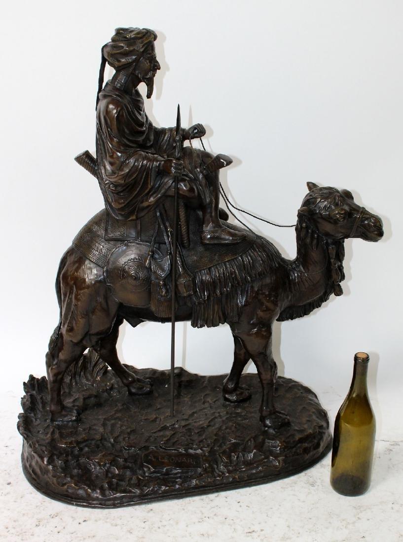 After Leonard bronze sculpture of a mounted camel - 7